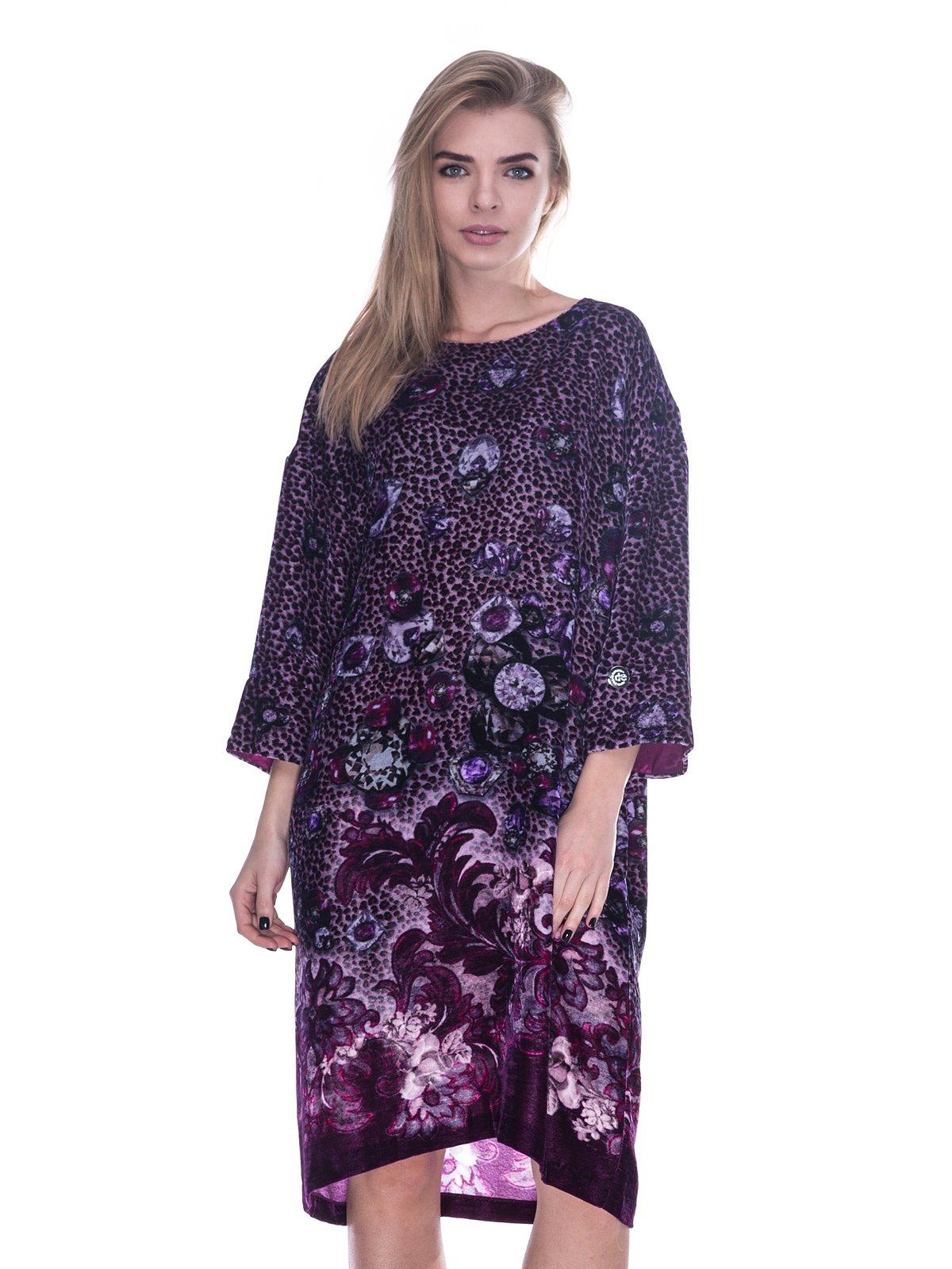 Платье фиолетовое в принт | 3733706