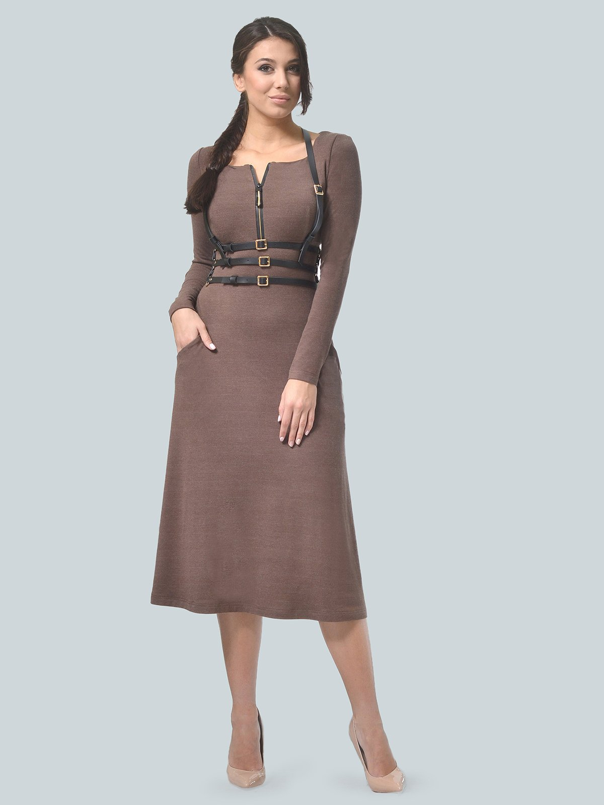 Сукня кольору мокко | 3750710