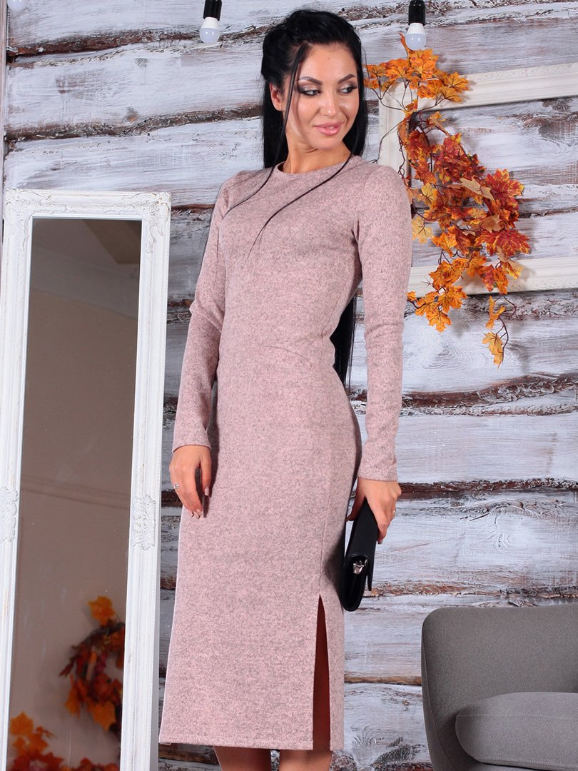 Платье бежевое | 3749611