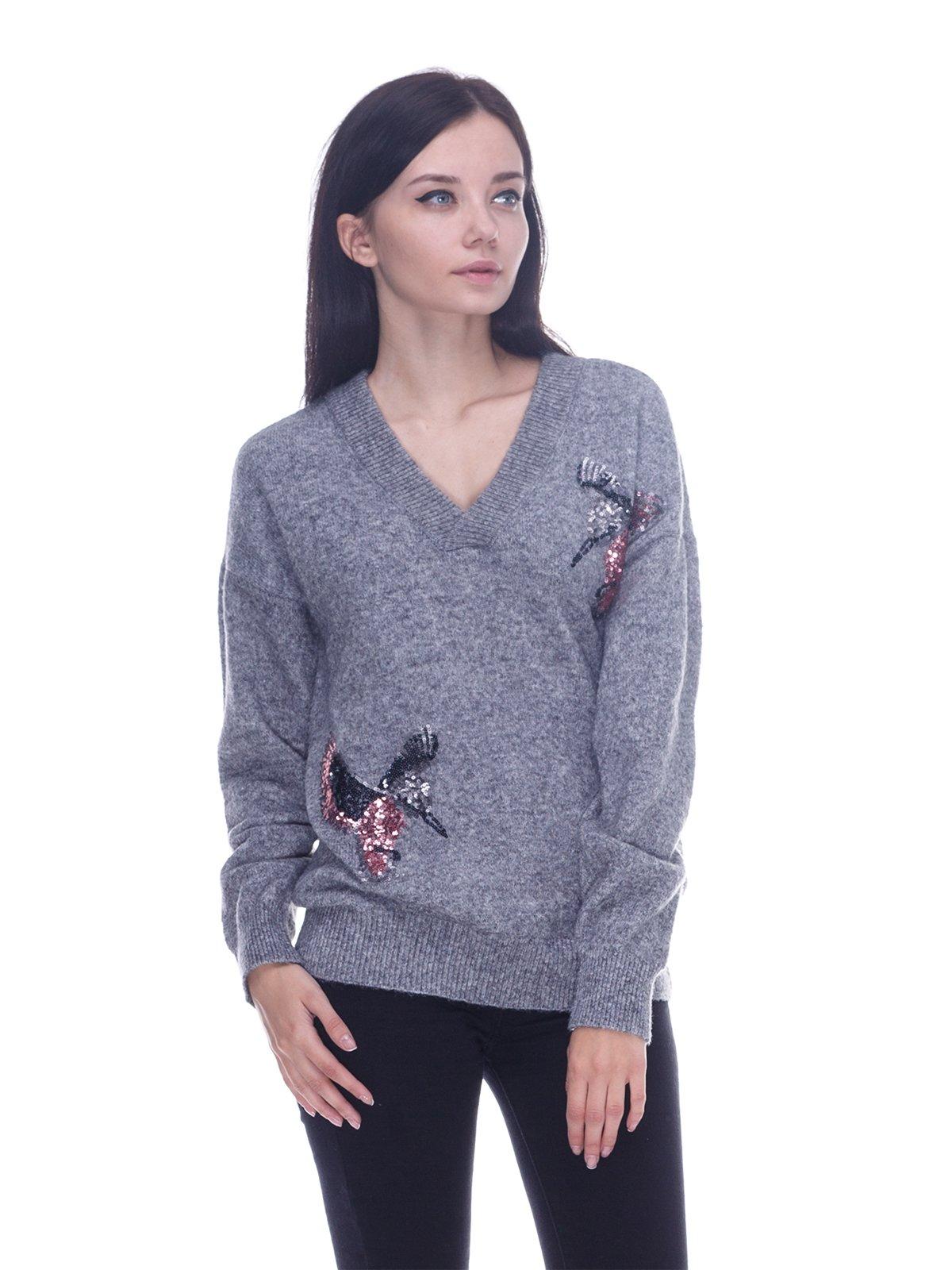 Пуловер серый | 3601747