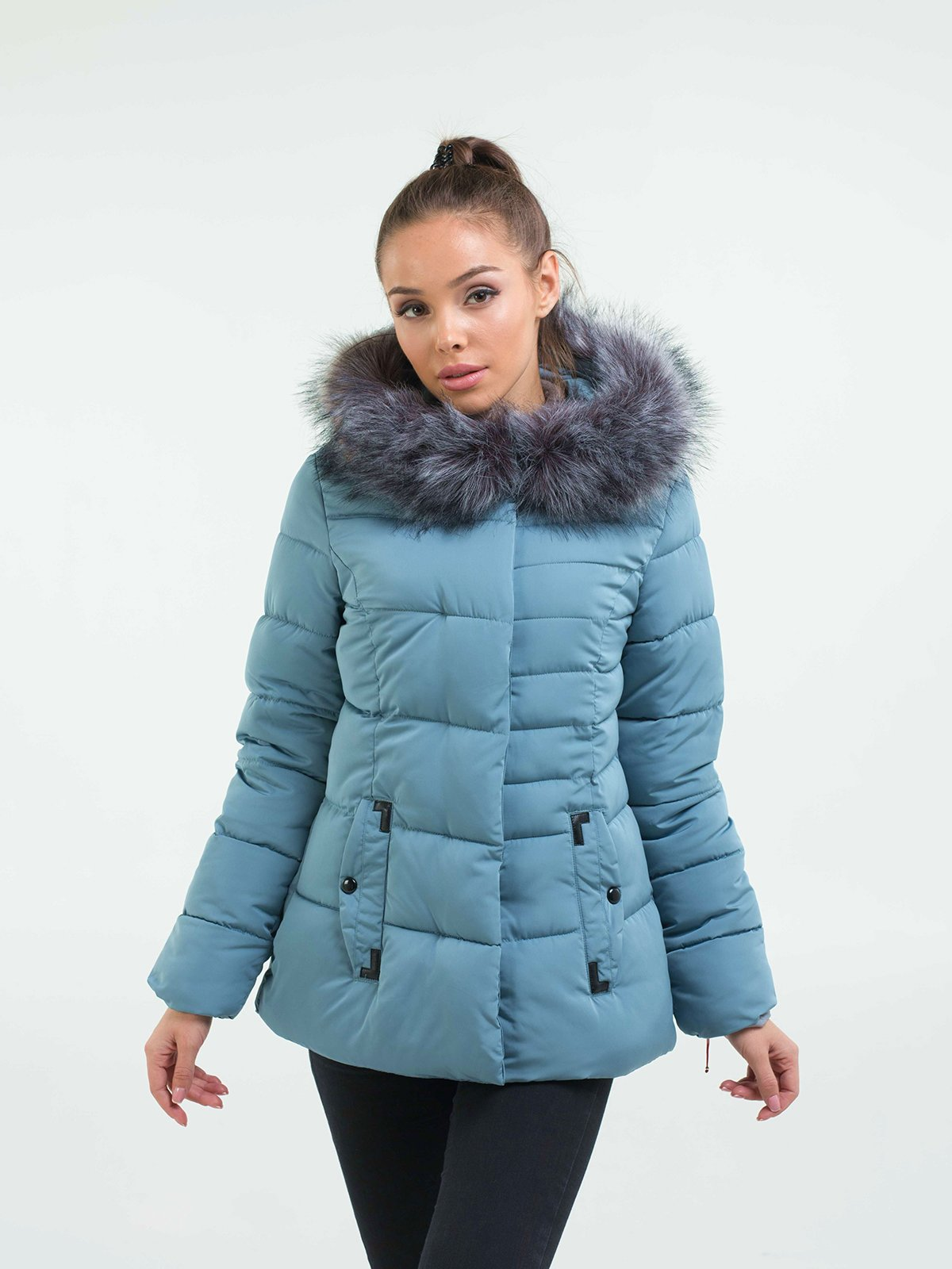 Куртка голубая | 3754630 | фото 4