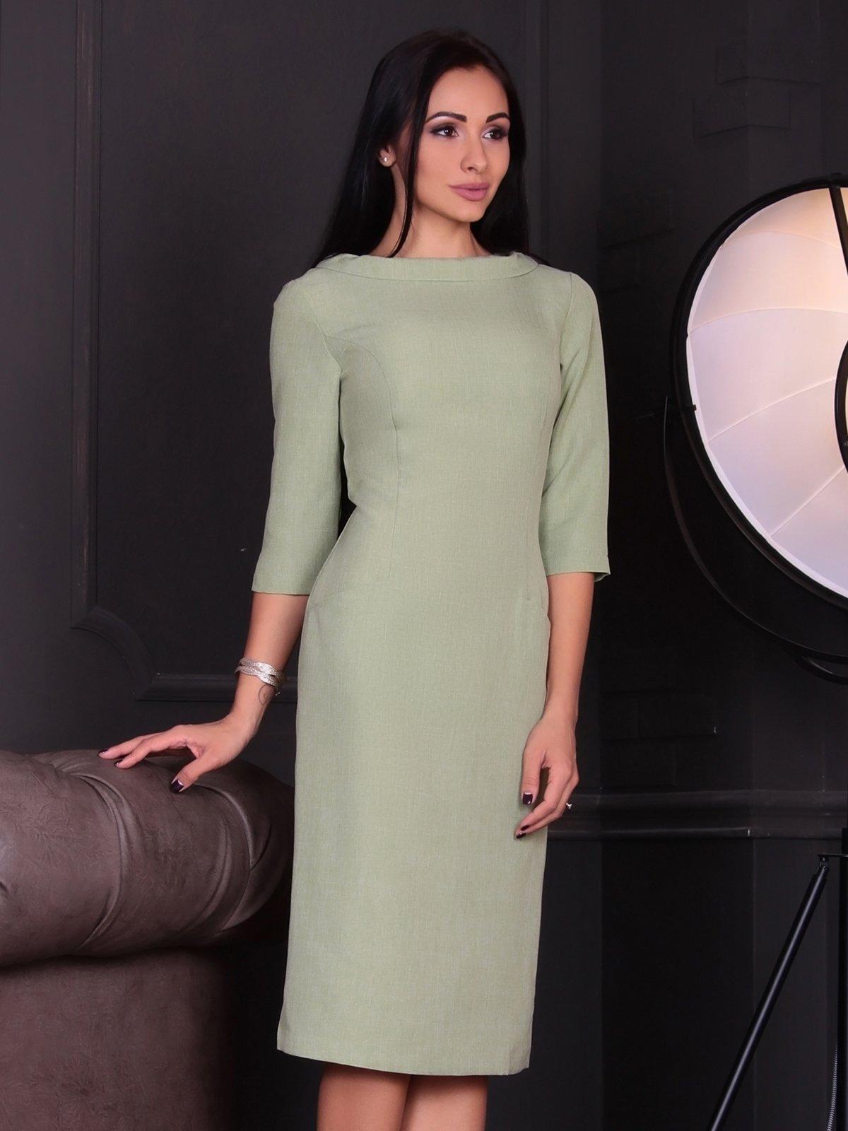 Платье оливкового цвета | 3692795