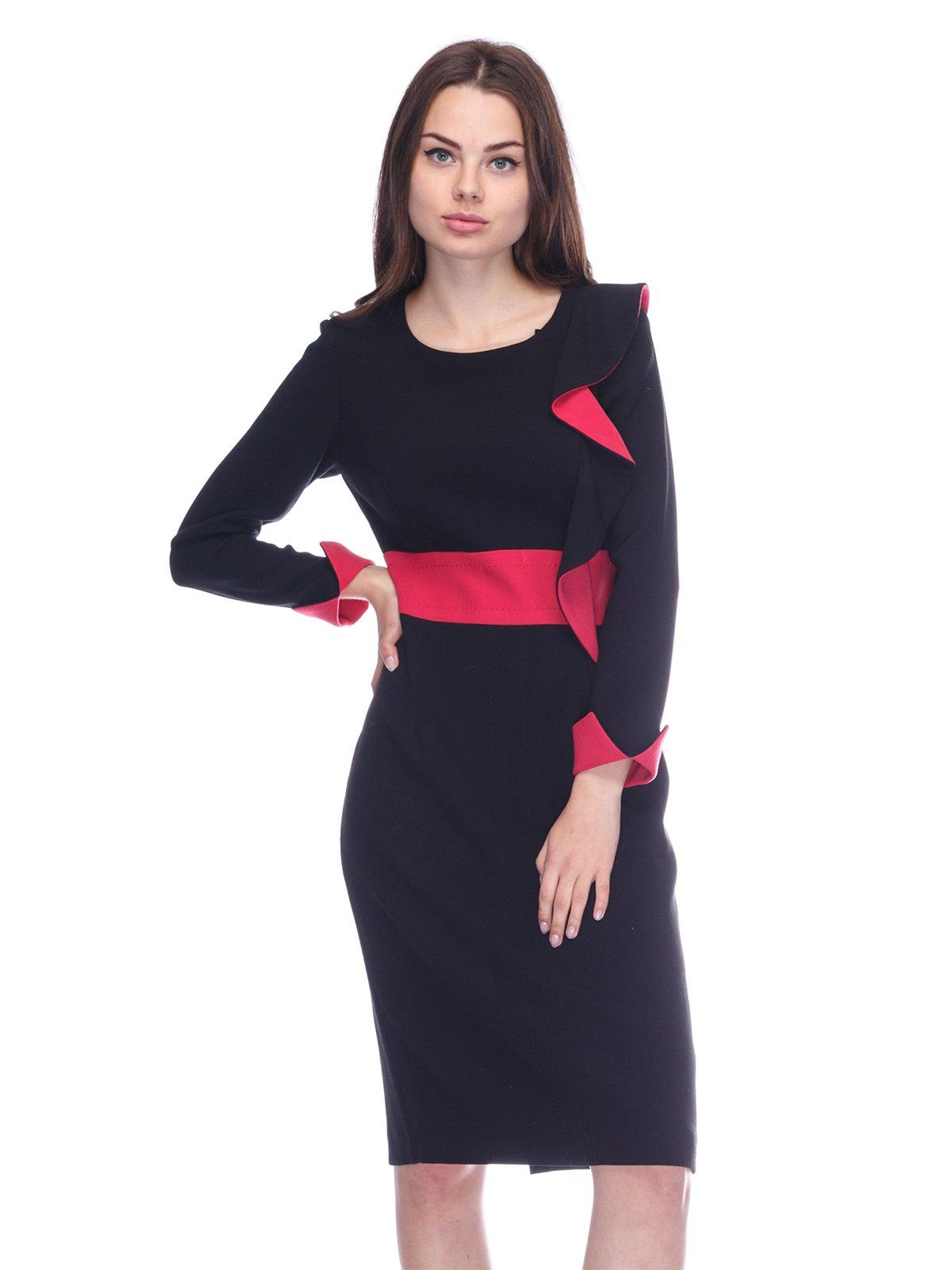 Сукня чорно-рожева | 3752050