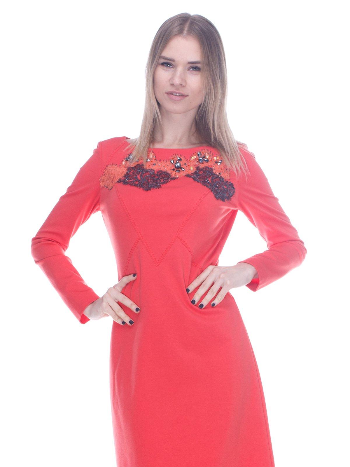 Платье коралловое | 3752065