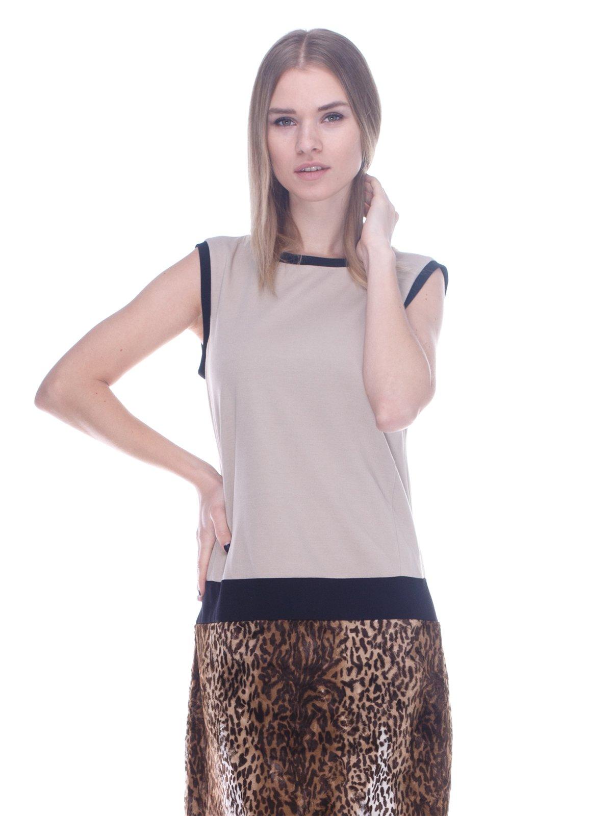 Сукня бежево-коричнева   3752055