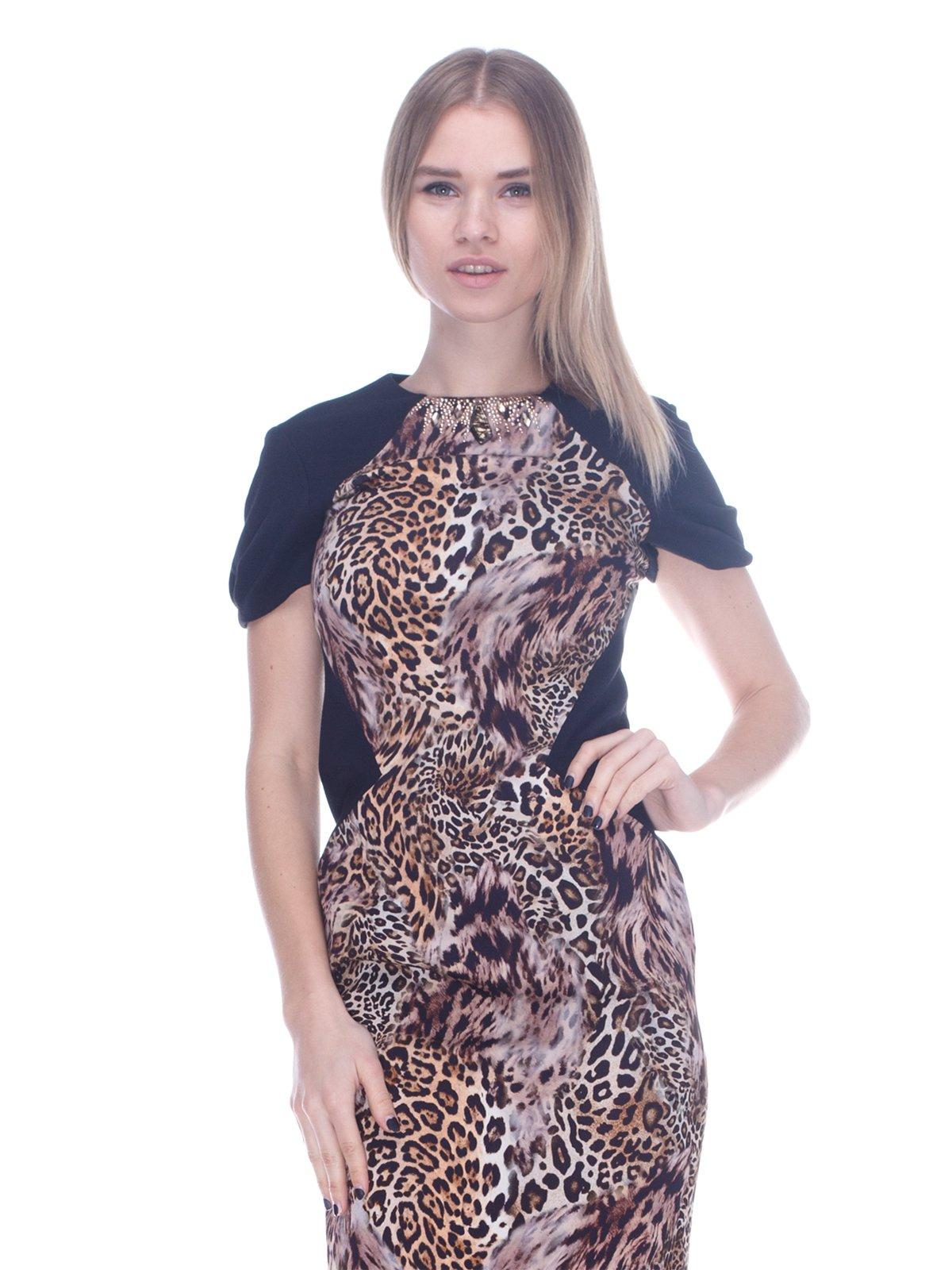 Платье в леопардовый принт | 3752075
