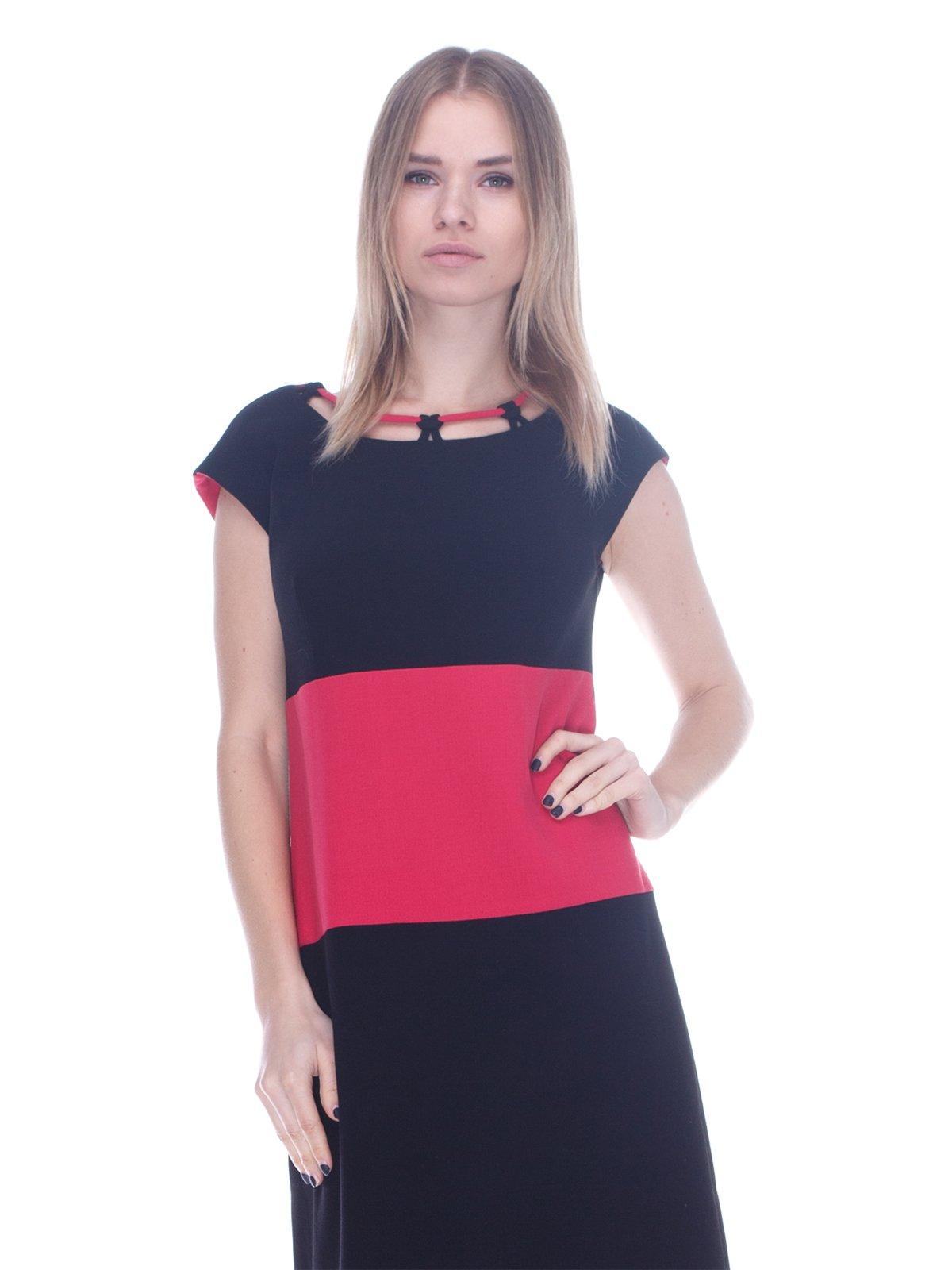 Платье черно-розовое | 3752051