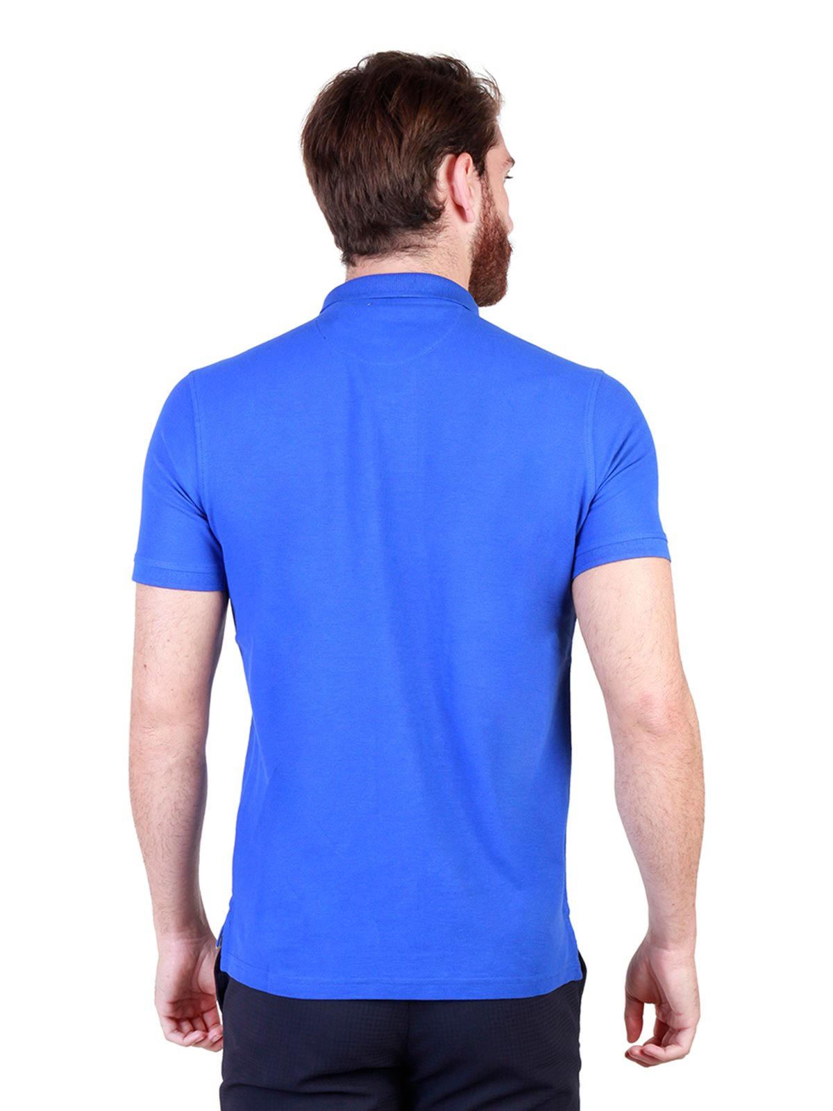 Футболка-поло синя | 3749288 | фото 2