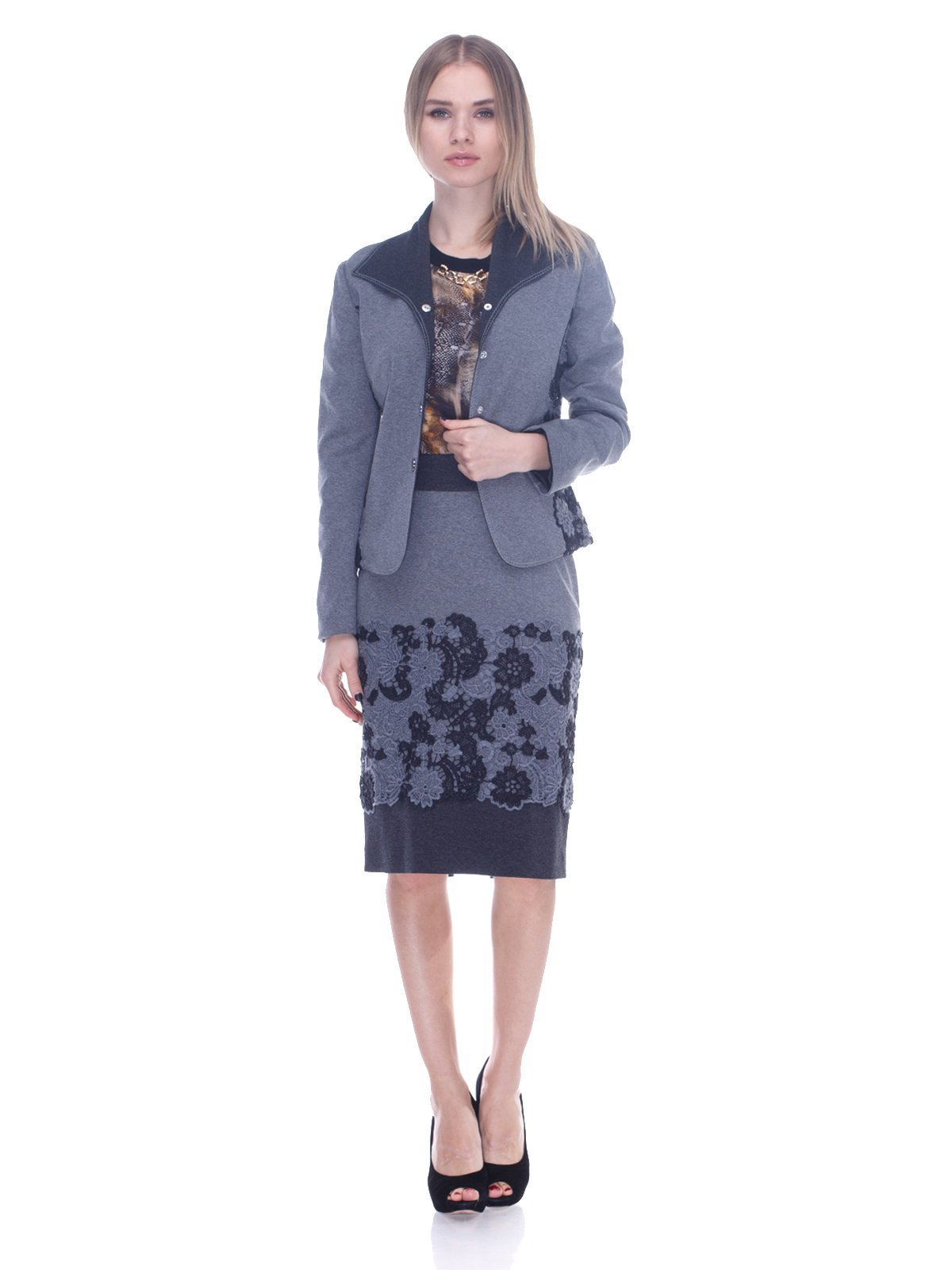 Костюм: жакет и юбка | 3752100