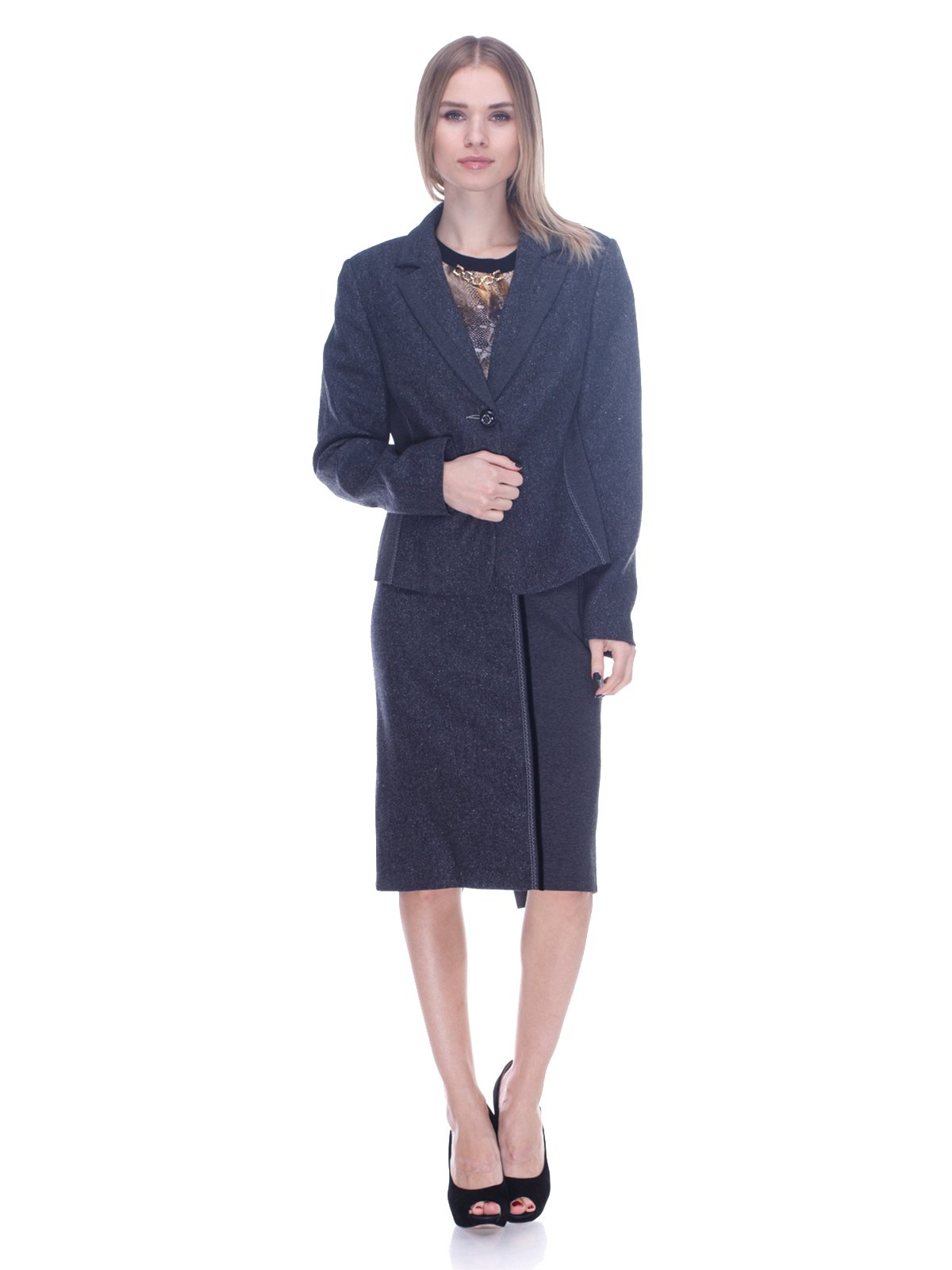 Костюм: жакет и юбка | 3752115