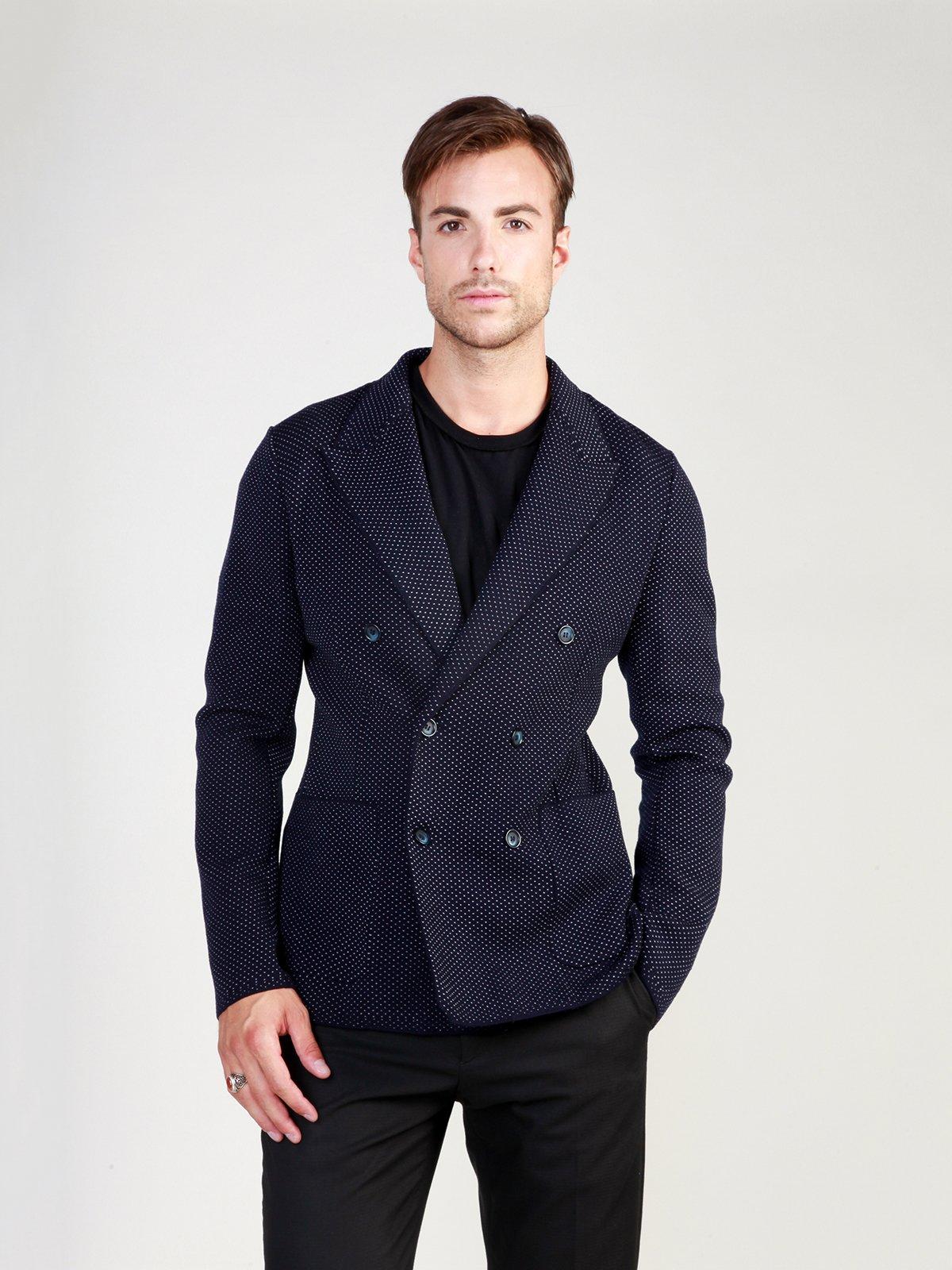 Пиджак темно-синий в рисунок | 3748934