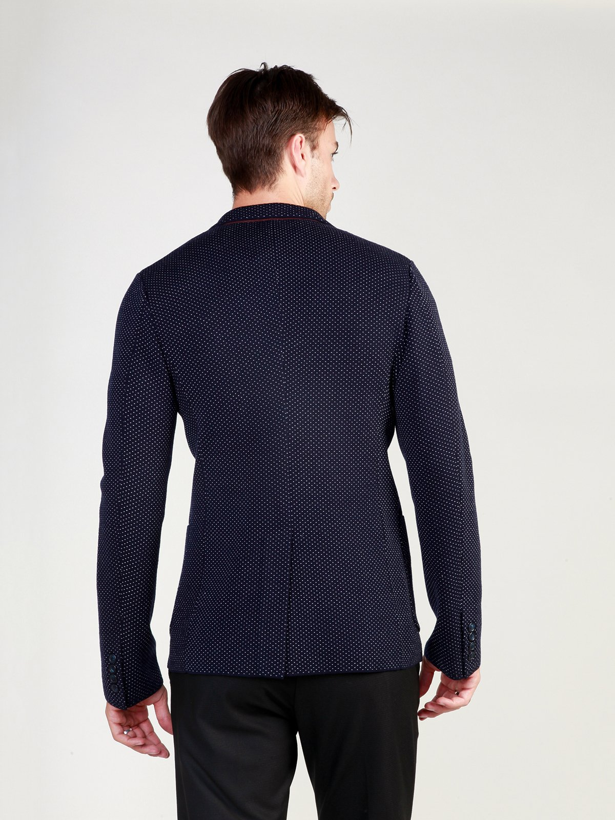 Пиджак темно-синий в рисунок | 3748934 | фото 2