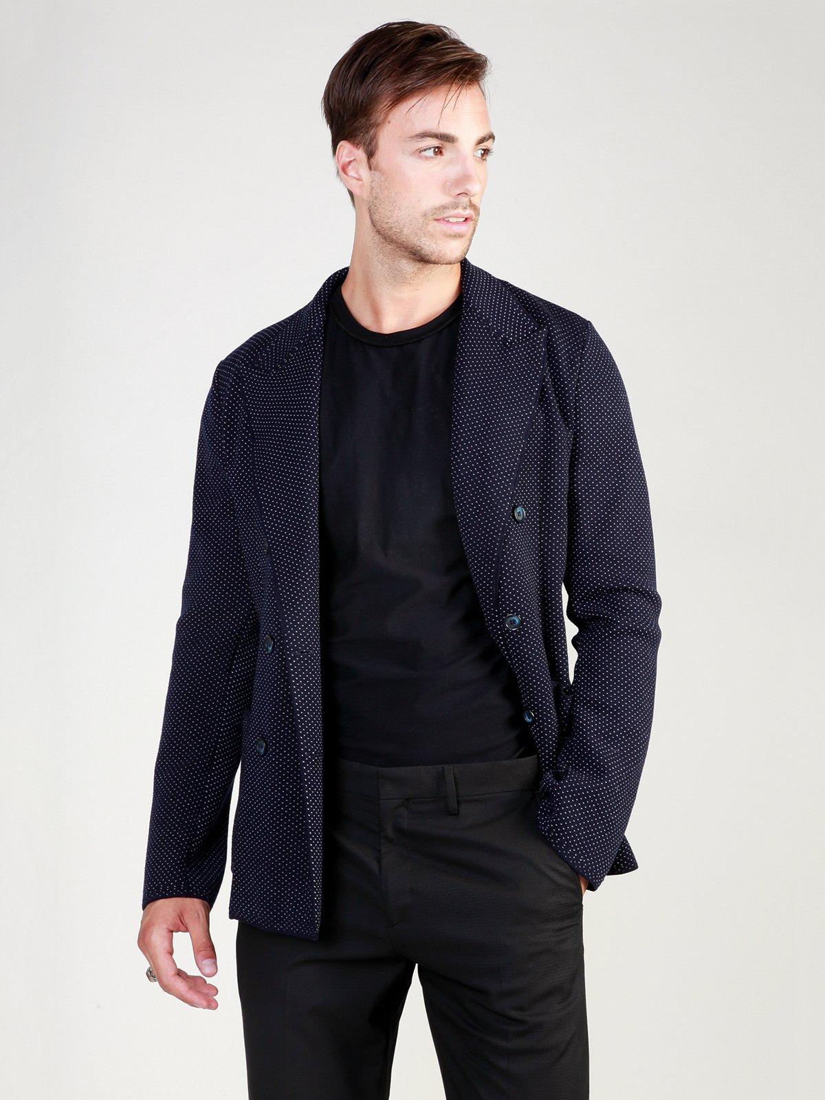 Пиджак темно-синий в рисунок | 3748934 | фото 3
