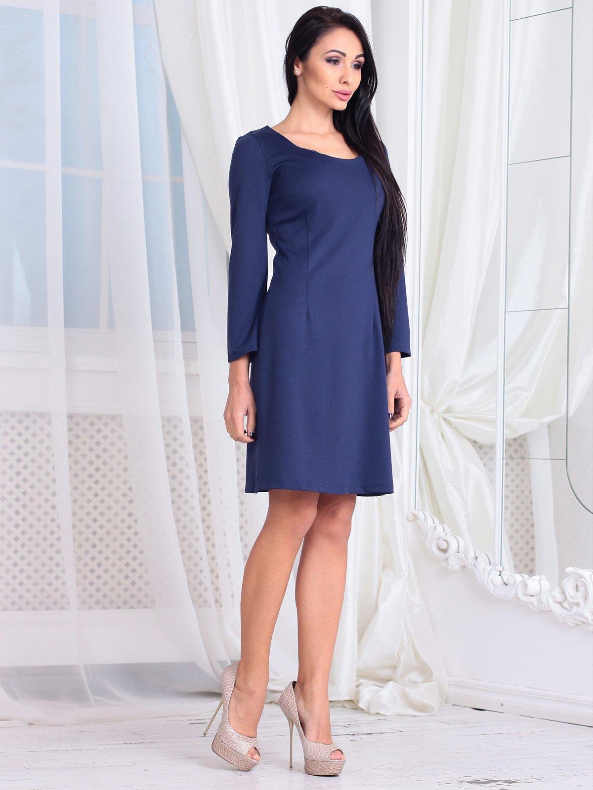 Платье темно-синее | 3760629