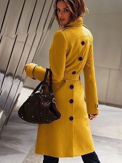Пальто желтое | 3764930