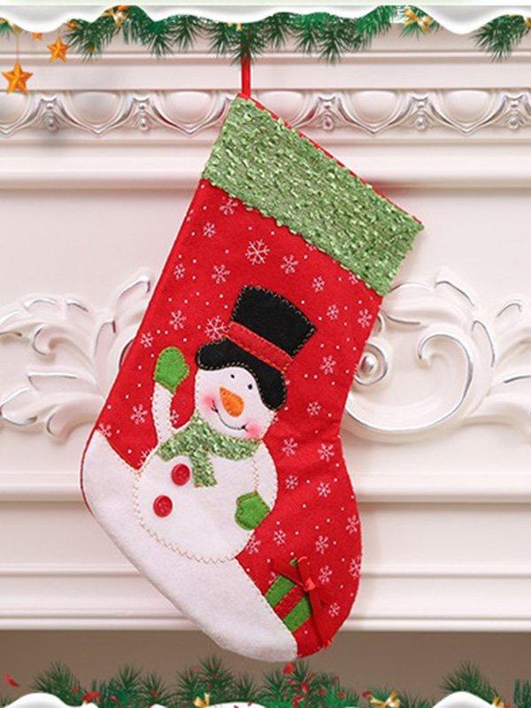 Рождественский носок для подарков «Снеговик»   3765726