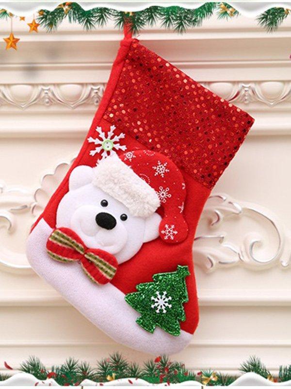 Рождественский носок для подарков «Мишка» | 3765820