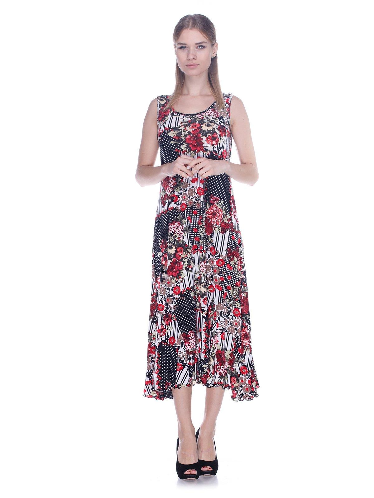 Сукня в квітковий принт і горошок | 3387728
