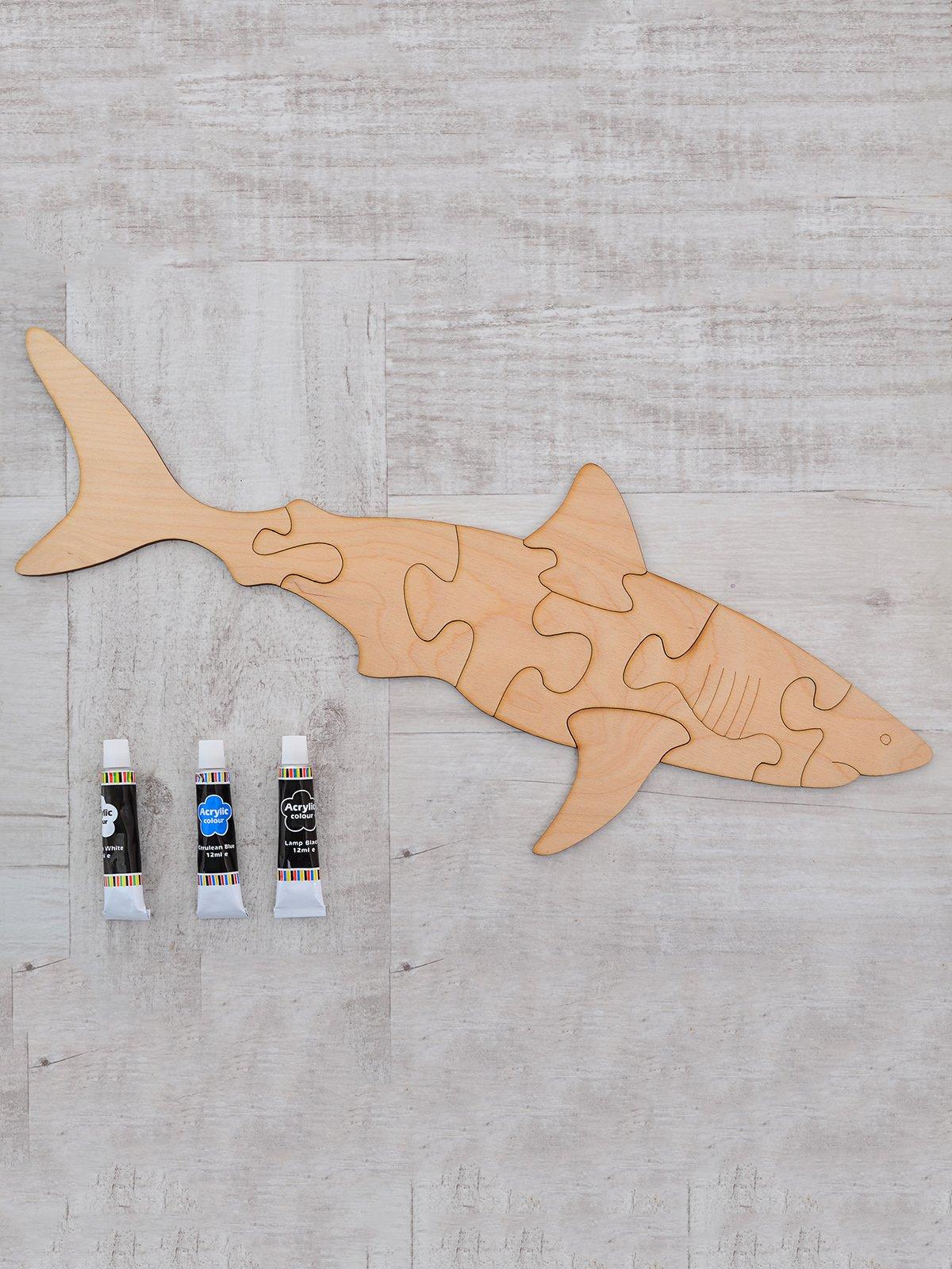 Дерев'яний пазл «Акула» | 3726551 | фото 2