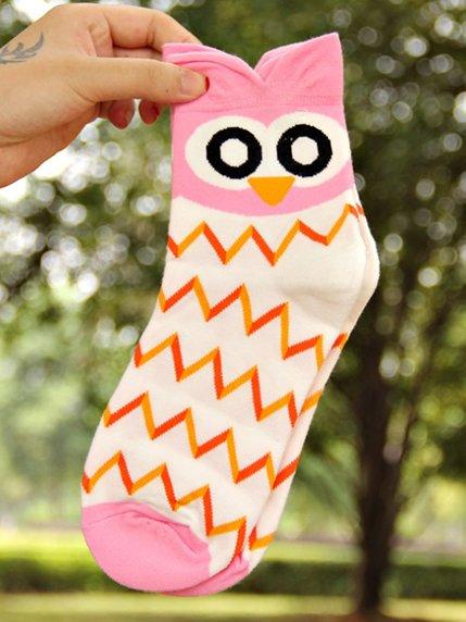 Шкарпетки рожеві з малюнком підліткові | 3769063