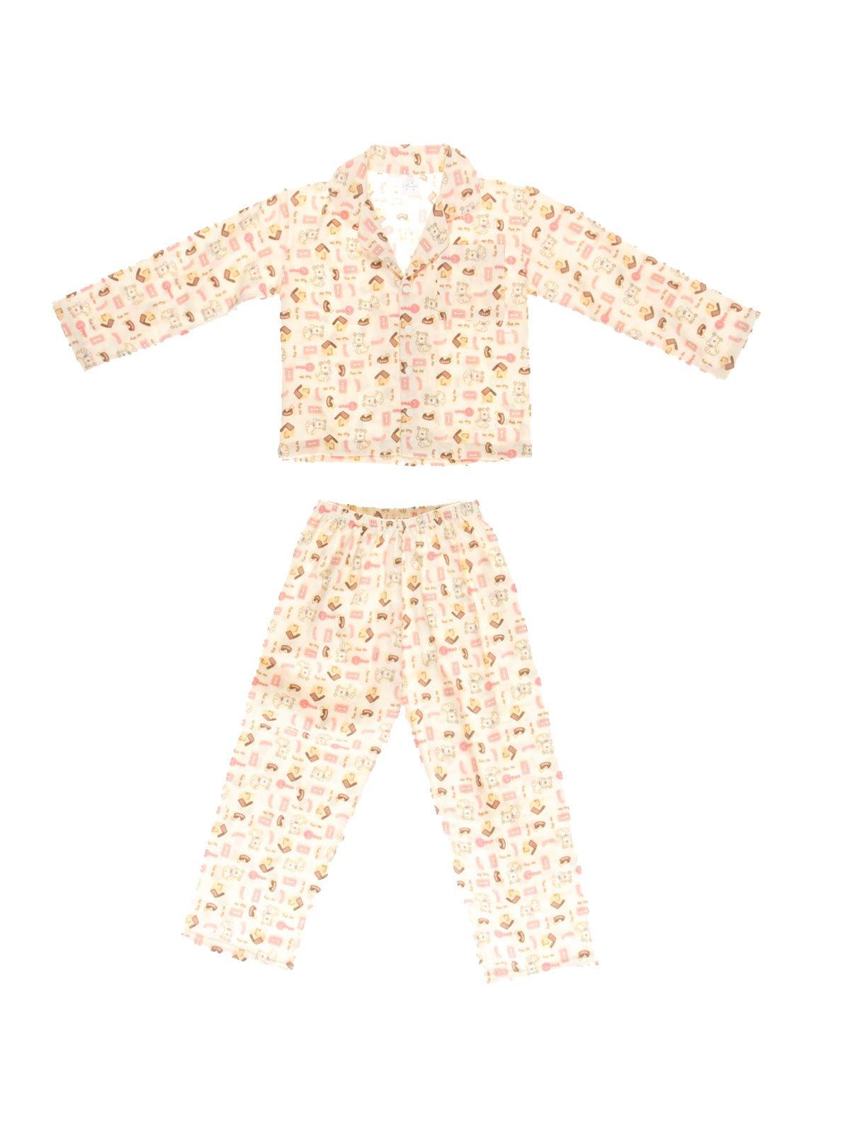Піжама фланелева з начосом: кофта та штани | 3783111