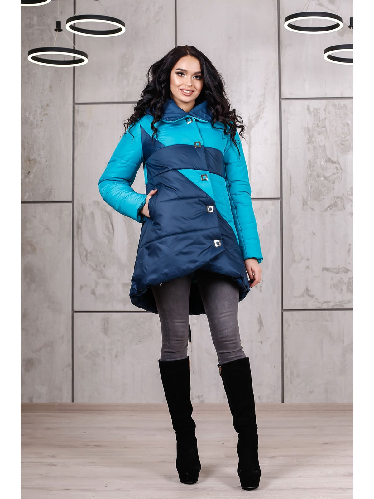 Куртка сине-голубая | 3774630