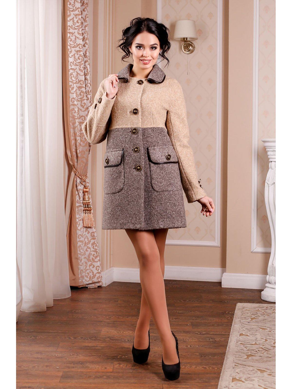 Пальто двоколірне | 3774664