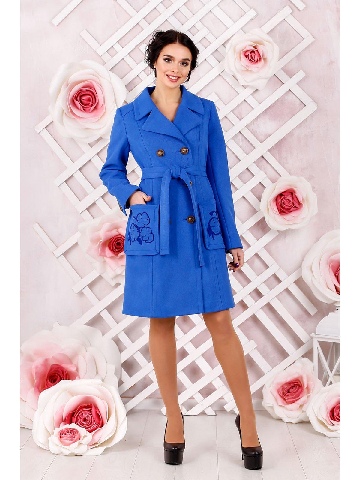 Пальто цвета электрик   3774671