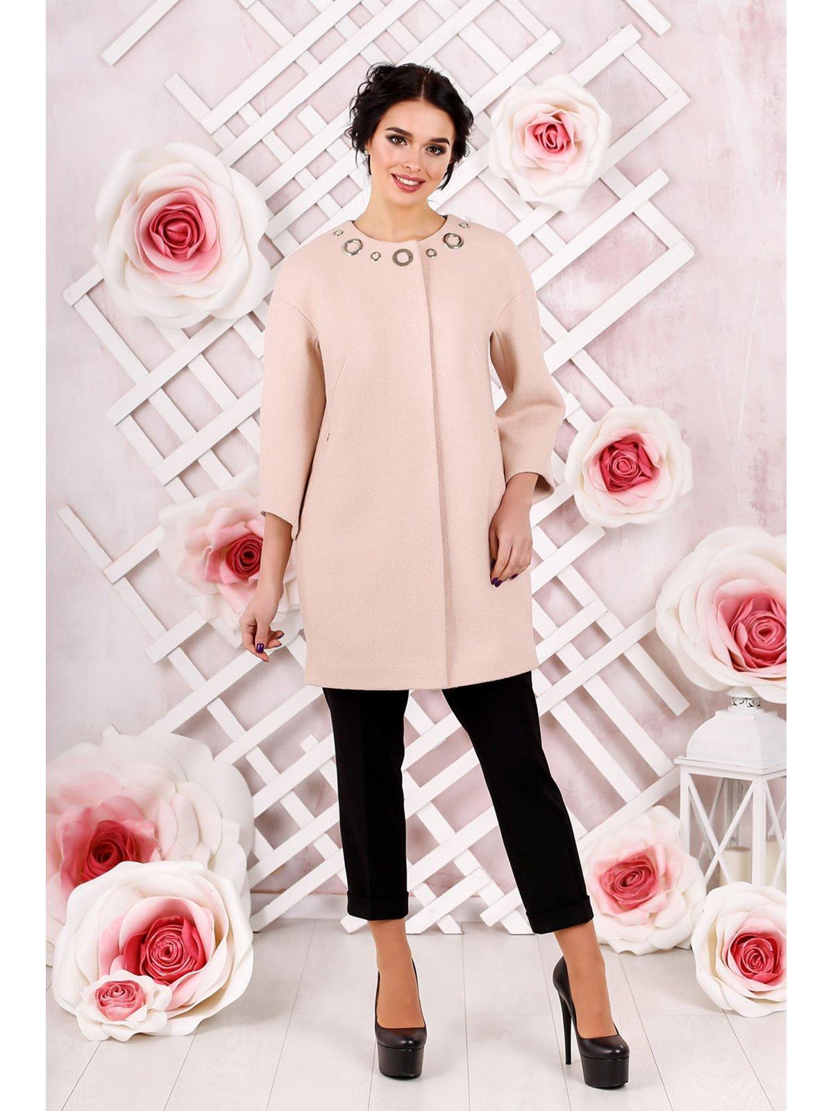 Пальто персикового кольору | 3774674