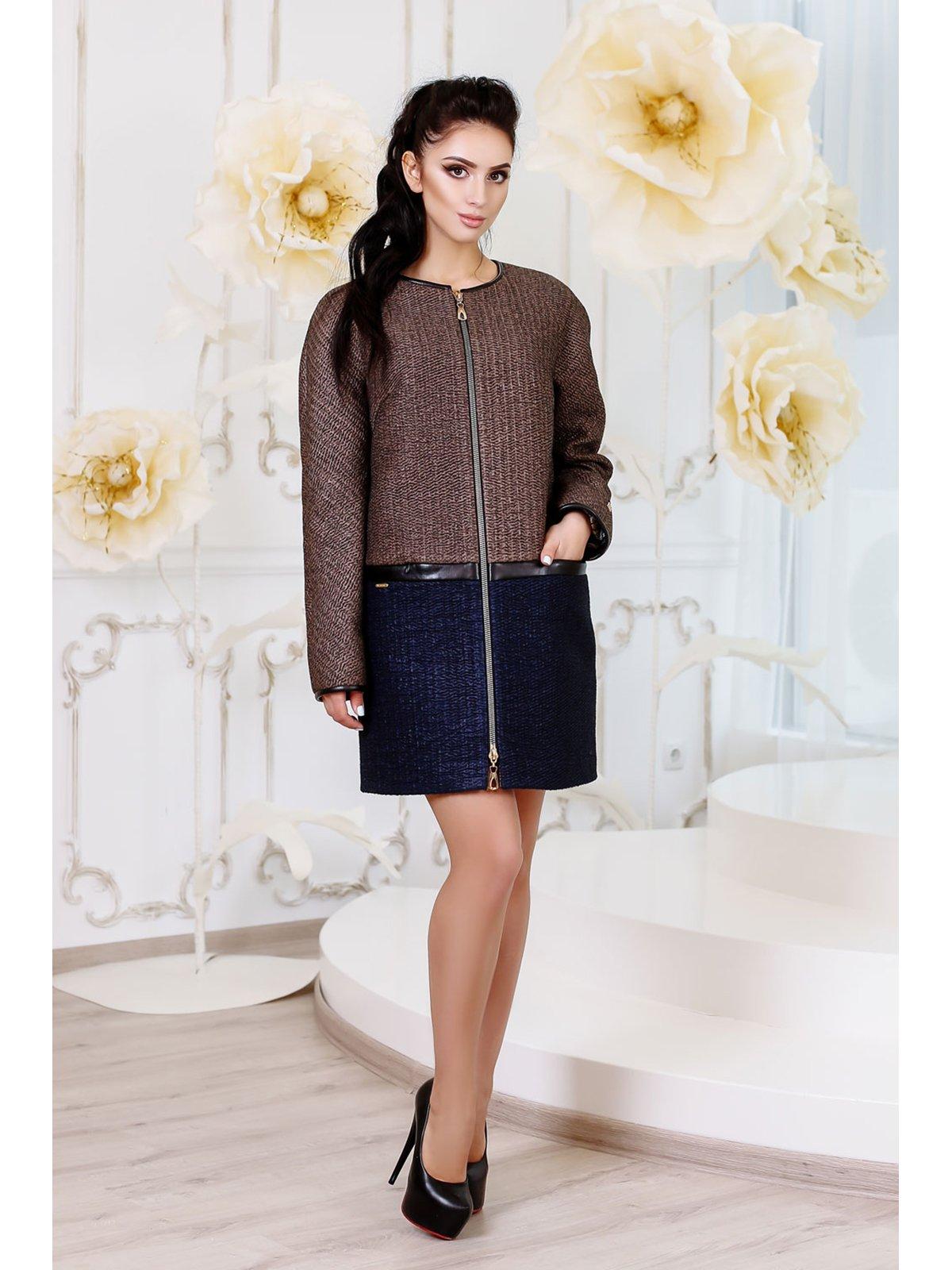 Пальто двоколірне | 3774753
