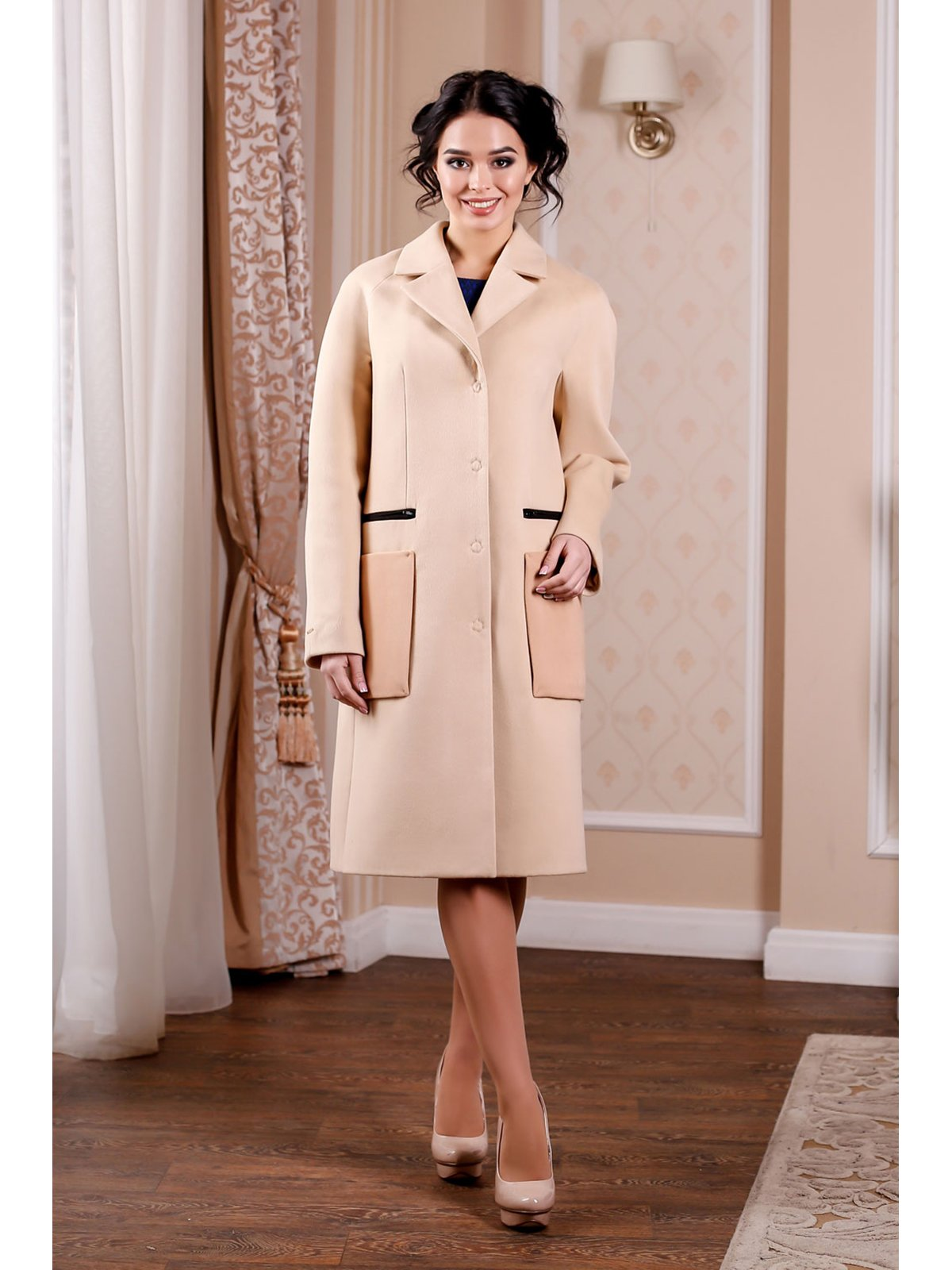 Пальто кремового цвета | 3774755