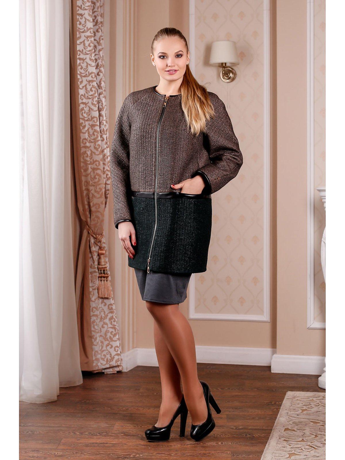 Пальто двоколірне | 3774765