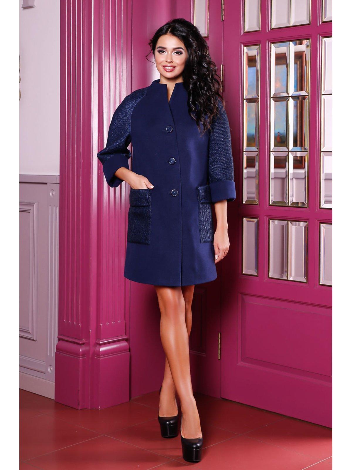Пальто темно-синее | 3774780