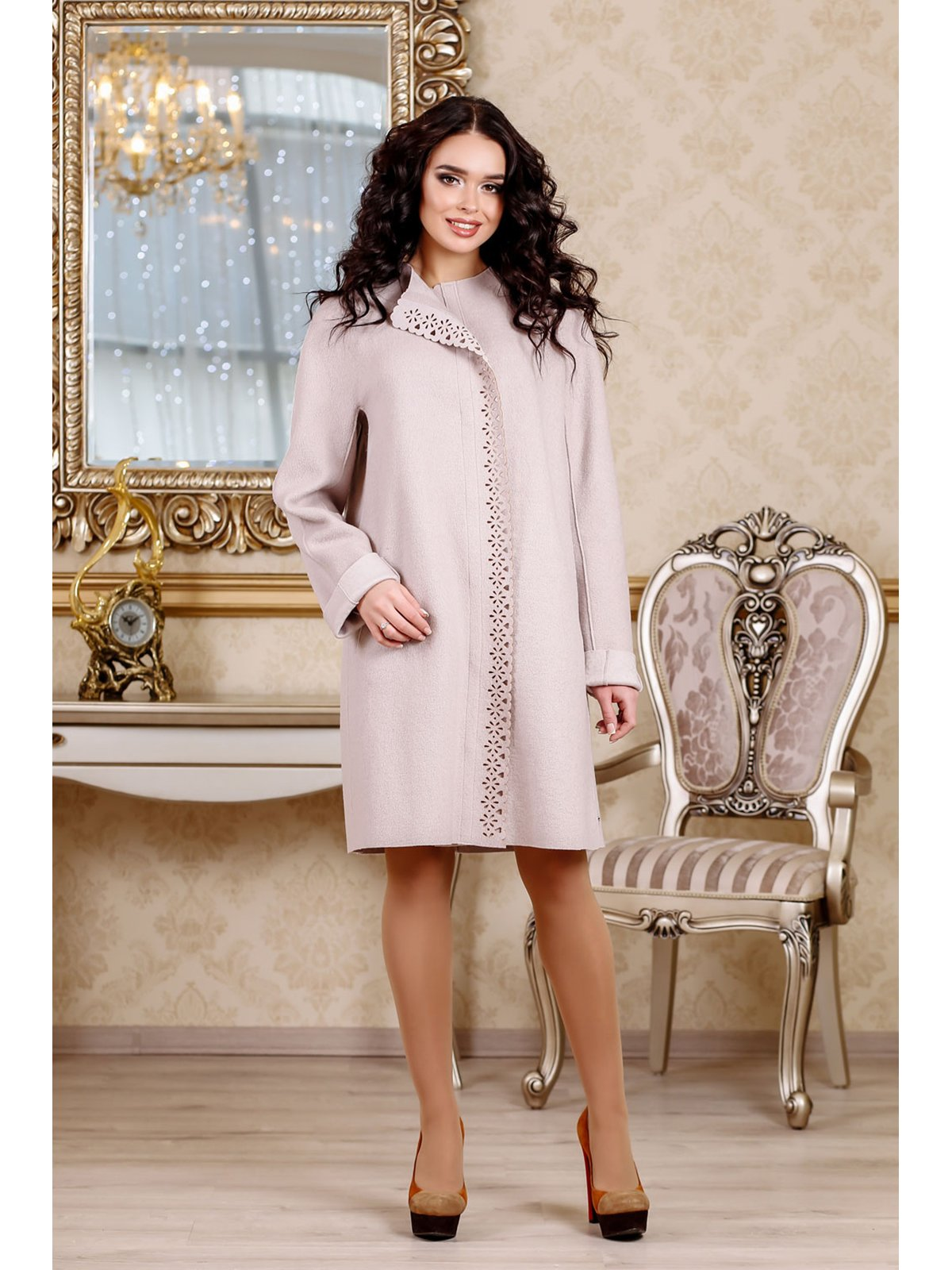 Пальто світло-рожеве | 3774789