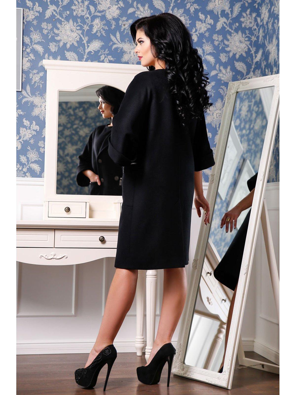 Пальто черное | 3774805 | фото 4