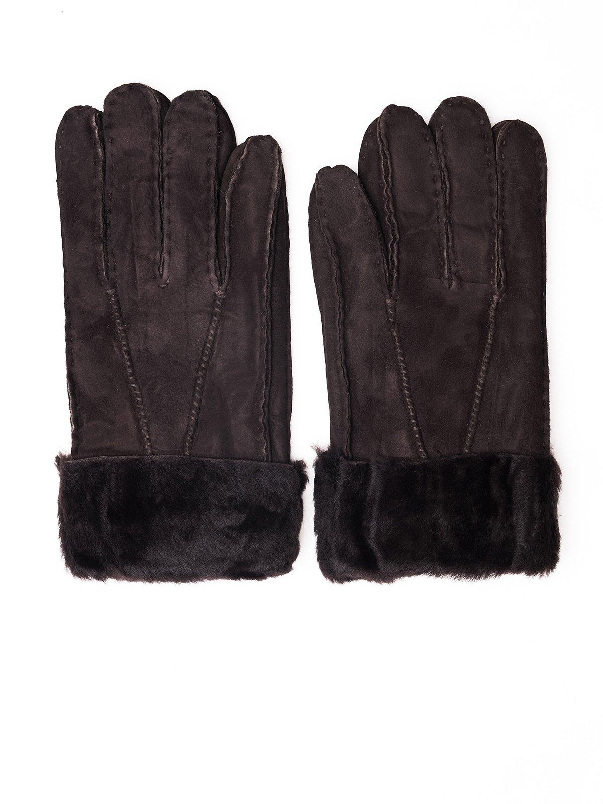 Рукавички темно-коричневі | 3777926