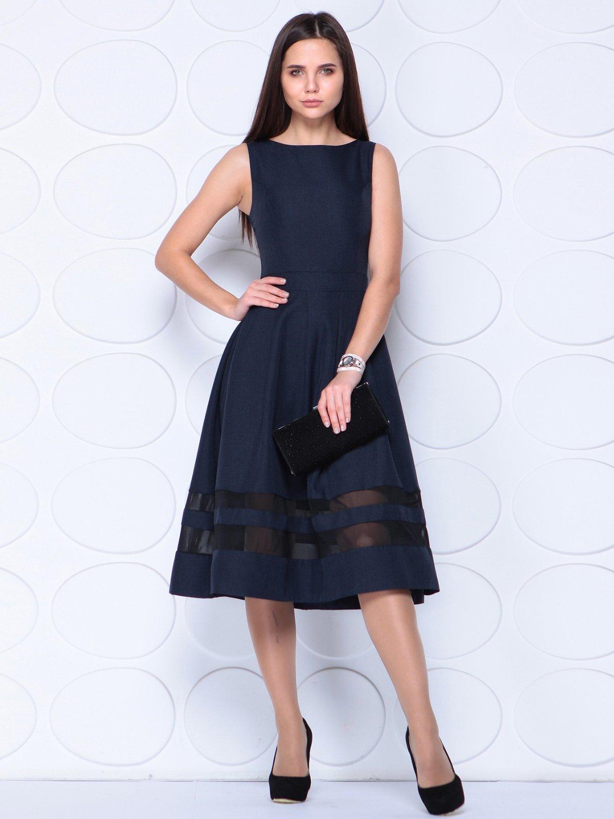 Платье черно-синего цвета | 3779788