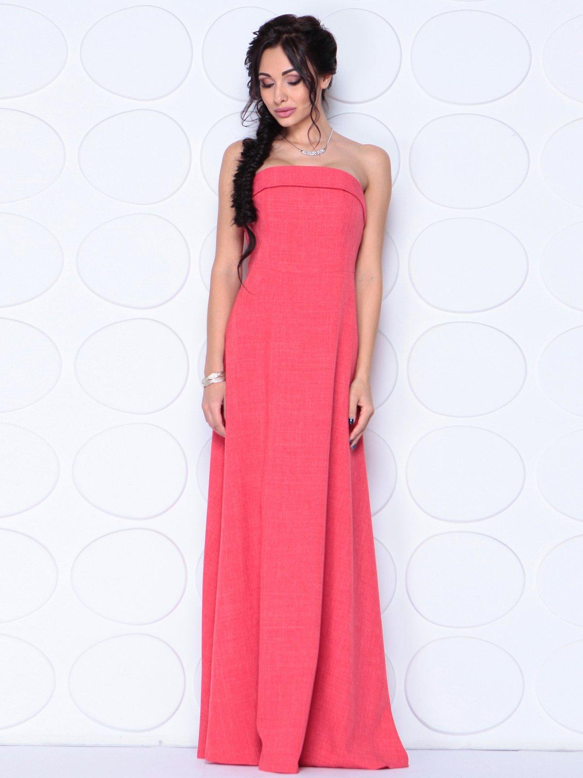 Платье цвета красный коралл | 3779791 | фото 2