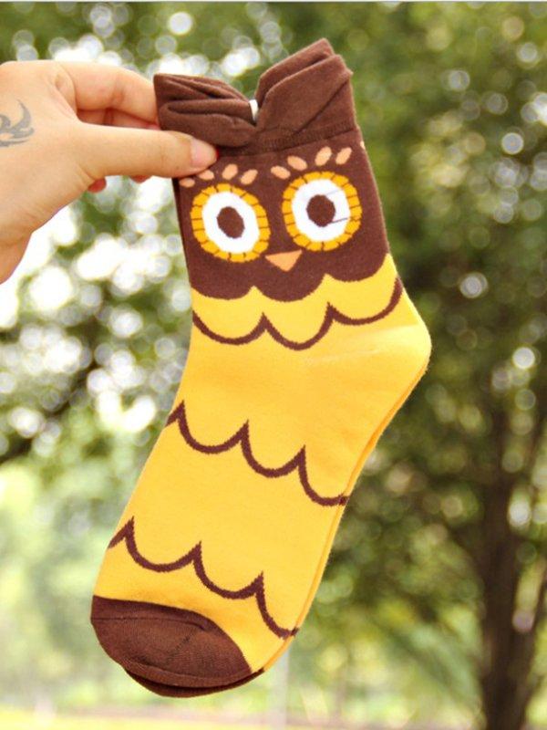 Шкарпетки жовті з малюнком підліткові | 3789160