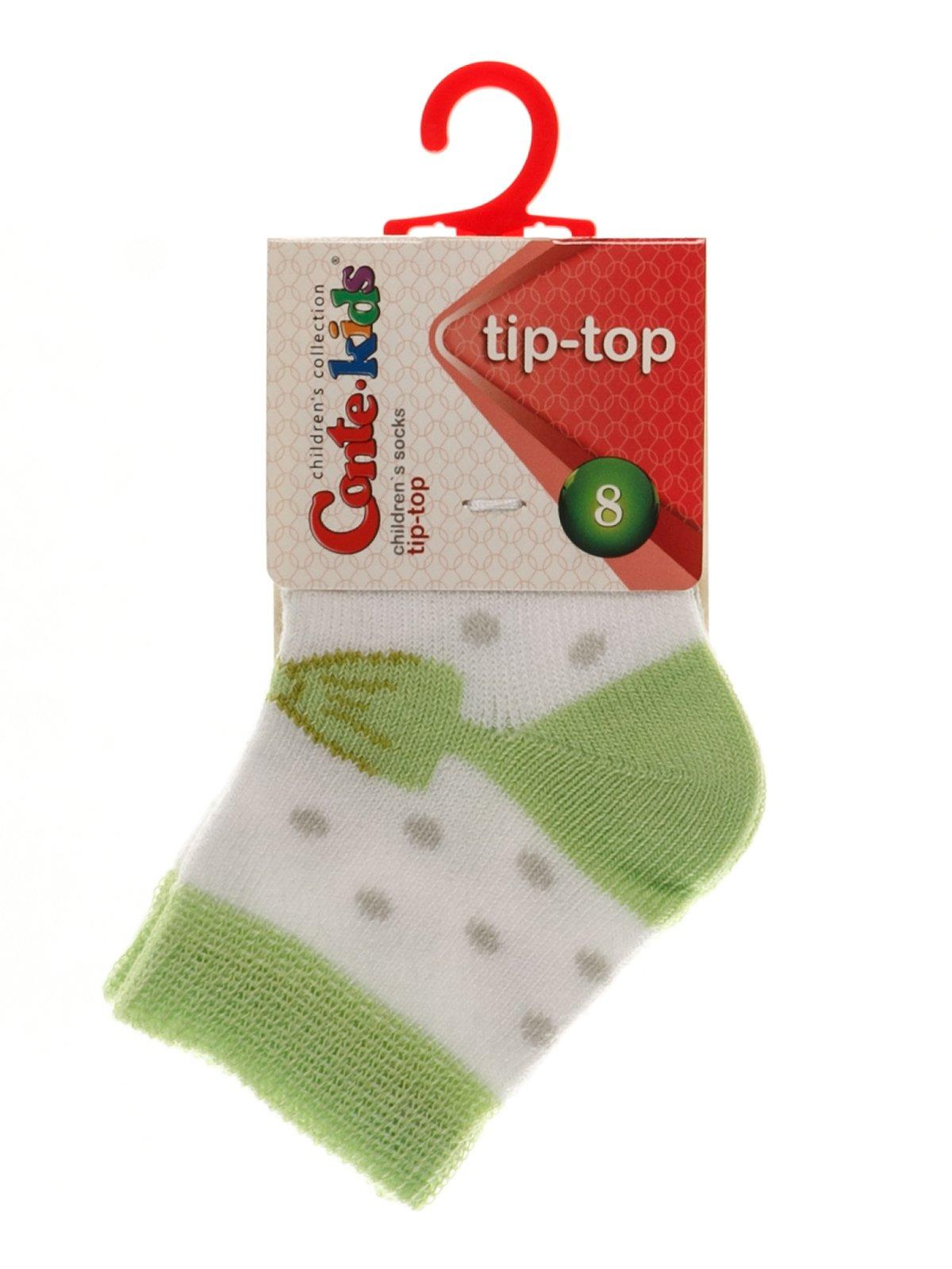 Носки бело-зеленые | 3750268