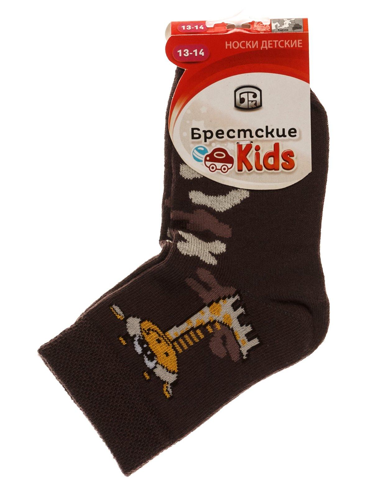 Шкарпетки коричневі | 3750539