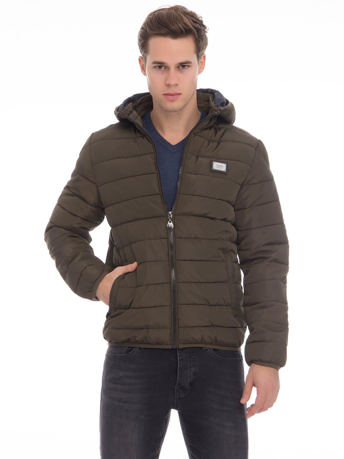 Куртка цвета хаки | 3790875 | фото 2