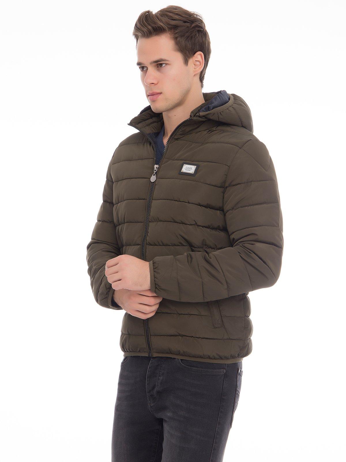 Куртка цвета хаки | 3790875 | фото 3