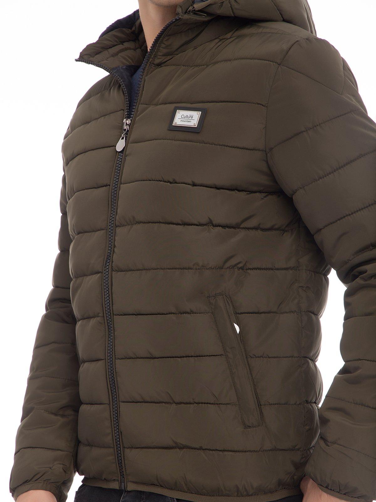 Куртка цвета хаки | 3790875 | фото 4
