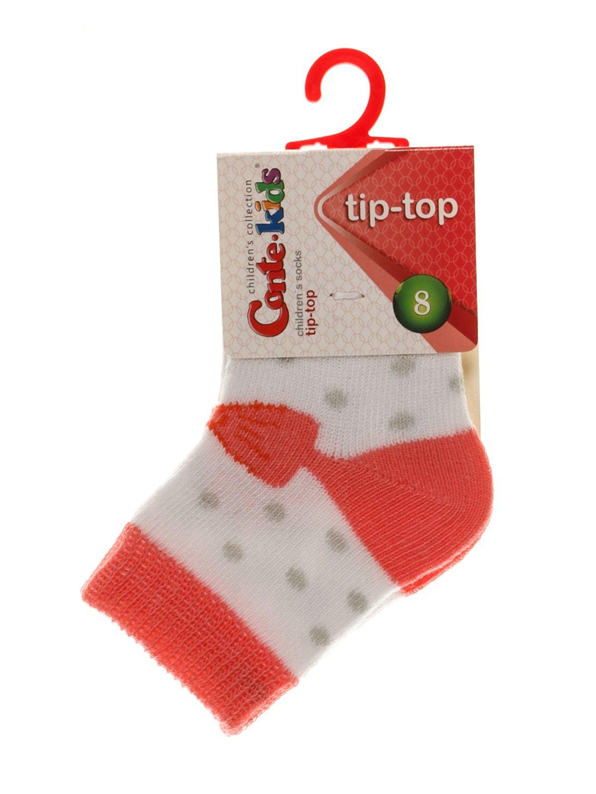 Шкарпетки біло-коралові | 3750266