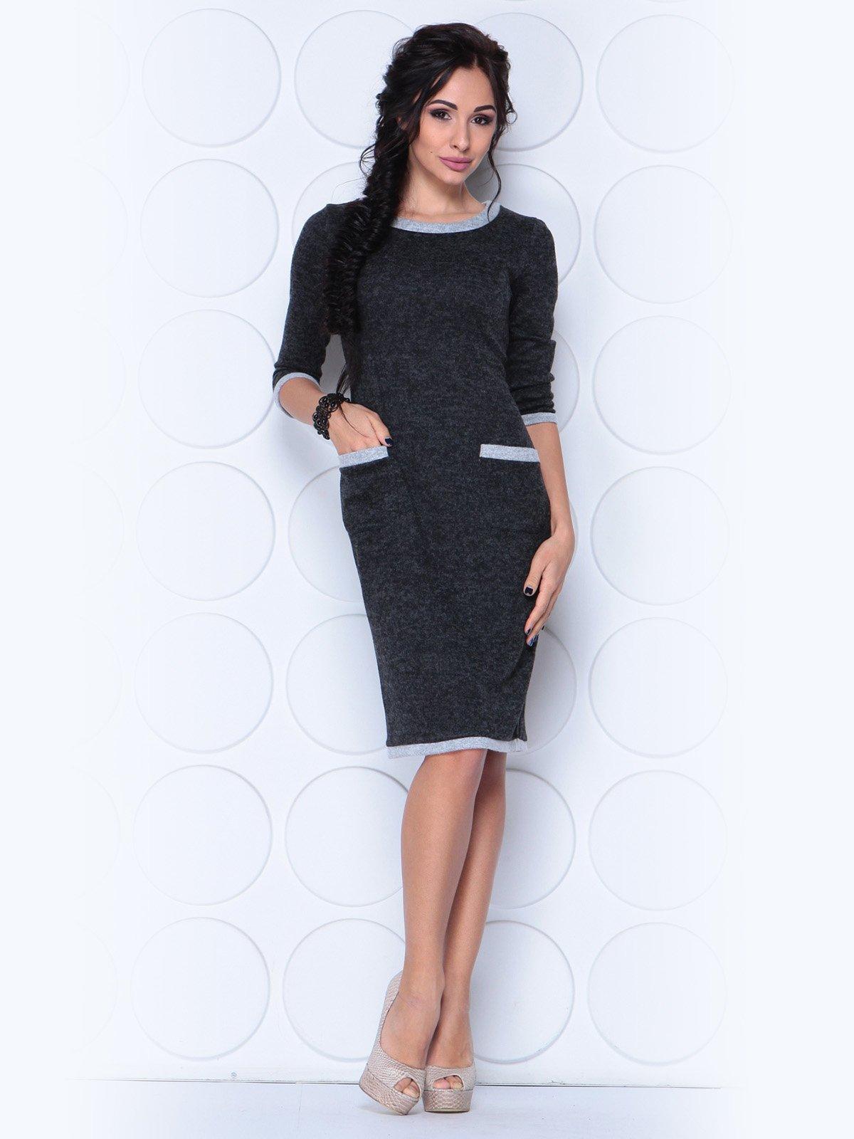 Платье черно-серое | 3788881