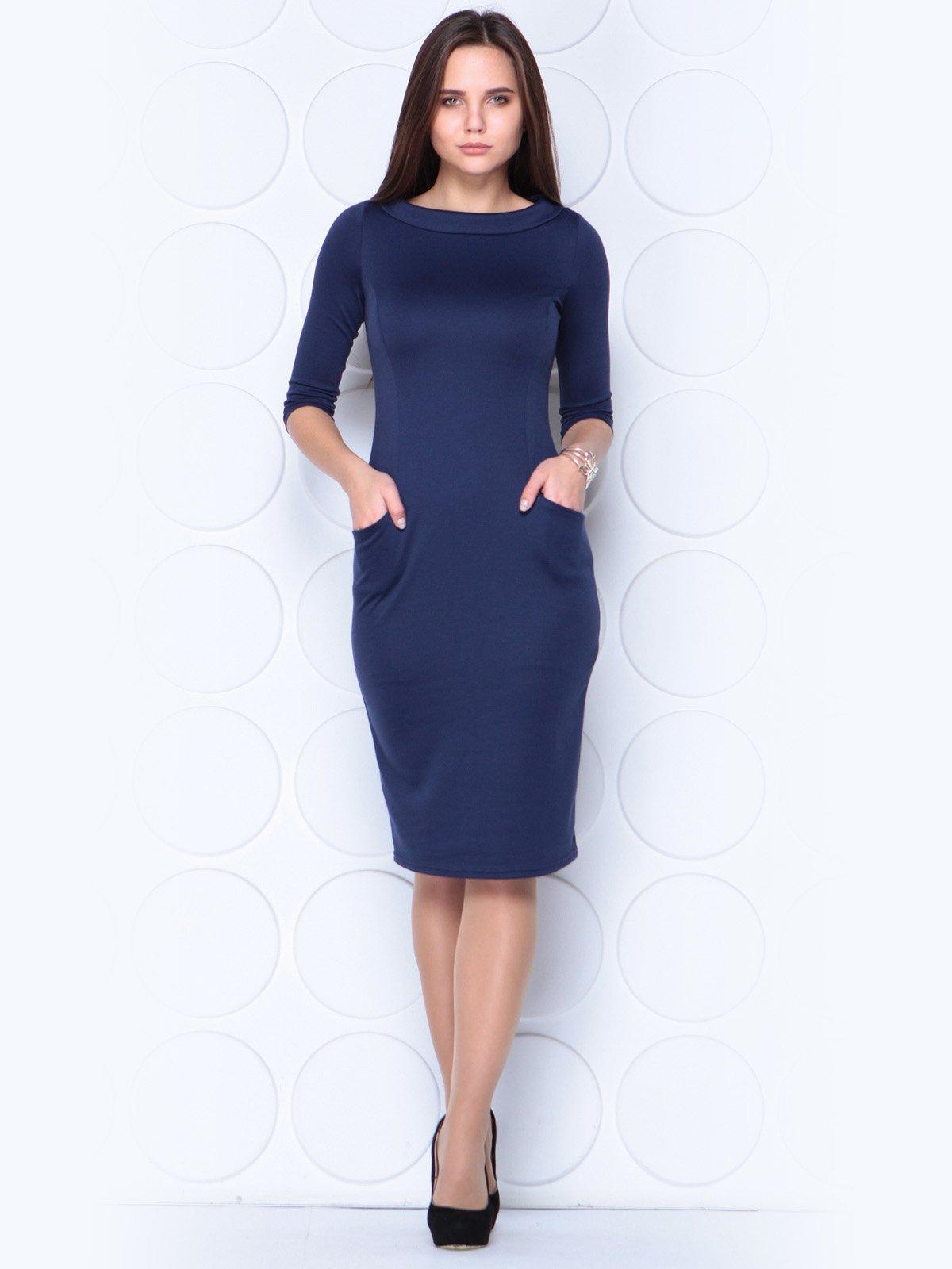 Платье темно-синее | 3788891