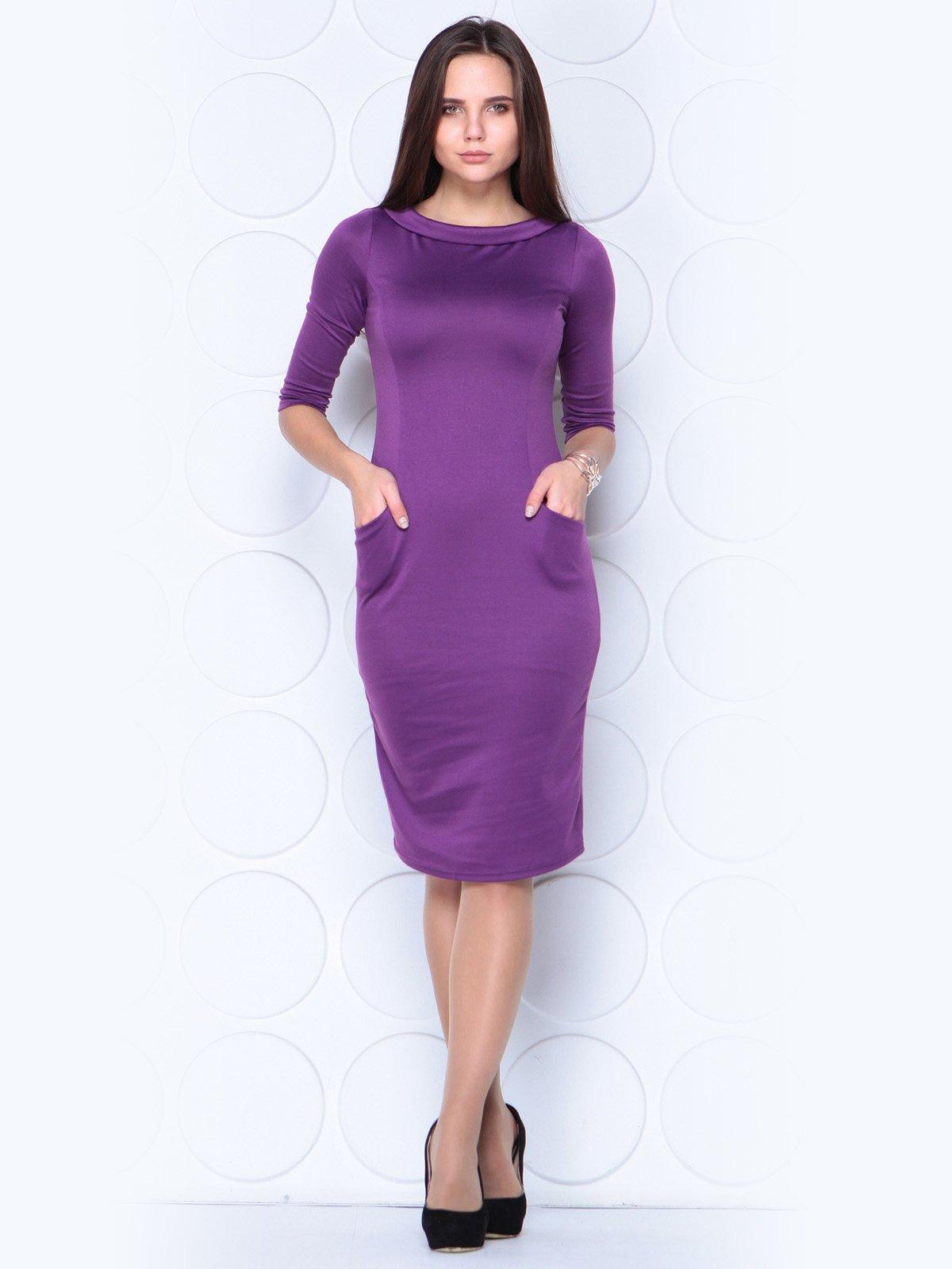 Платье темно-фиалкового цвета   3788892