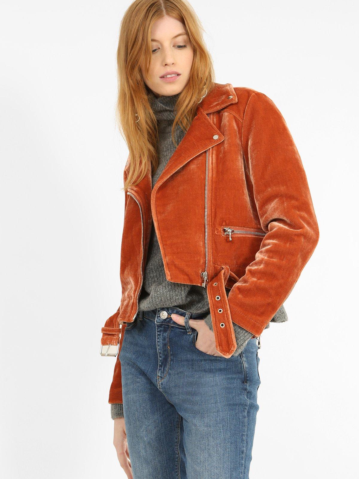 Куртка рыжего цвета | 3786880 | фото 4