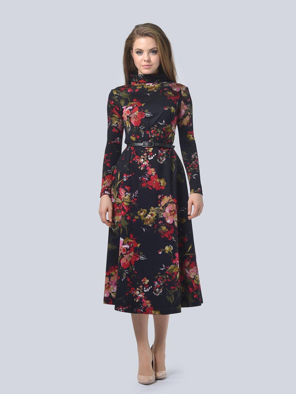 Платье в цветочный принт | 3794596